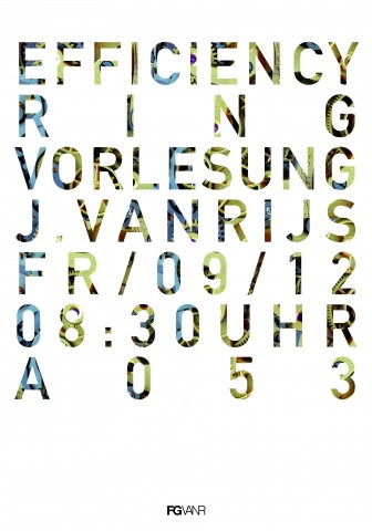 PLAKAT VORLESUNG EFFICIENCY 2